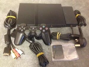 sony playstation 2 slim. image is loading sony-playstation-2-ps2-slim-black-games-console- sony playstation 2 slim