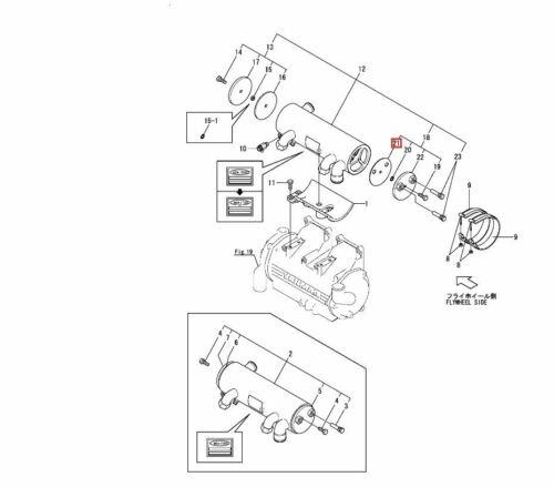Genuine YANMAR Oil cooler end plate gasket 6LP Engines 119175-33380 4LH