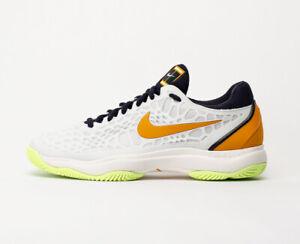 Detalles acerca de Zapato De Tenis Nike Zoom Cage 3 para hombre Talla 9 Blanco Naranja 918193 180 HC mostrar título original