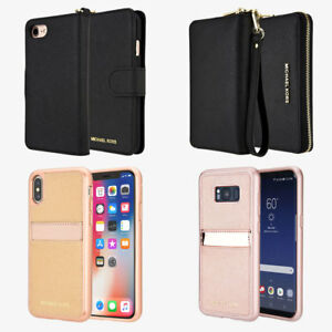 For iPhone Galaxy Michael Kors Leather Folio Wallet Pocket Case - Women & Girls