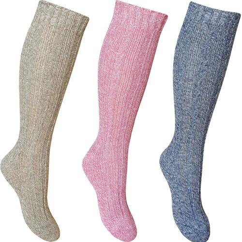 Ladies Wool Blend Thick Thermal Boot Socks Hiking Walking Ski Winter 6,12 Pairs