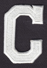 "LETTERS - WHITE BLOCK LETTER ""C"" (1 7/8"") - Iron On Embroidered Applique Patch"
