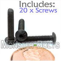 4-40 X 5/8 - Qty 20 - Button Head Socket Cap Screws Alloy Steel Black Oxide