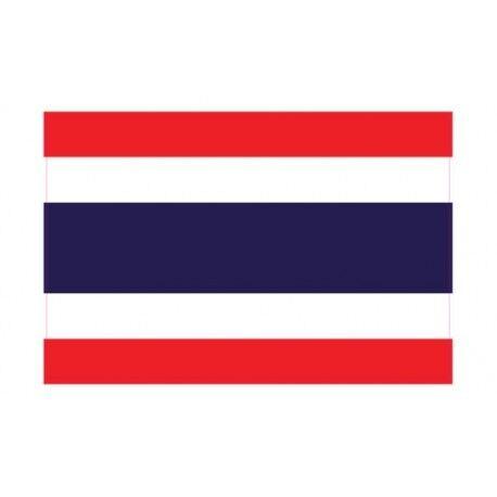 Autocollant Drapeau Thailand Thaïlande sticker flag 12 cm