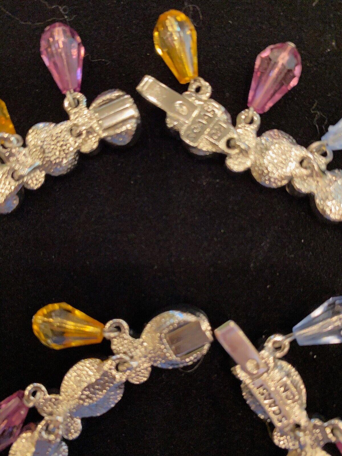 Vintage Arnold Scaasi Multi Color Crystal Necklac… - image 5