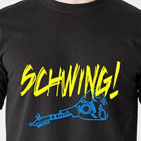 Schwing Wayne's World Snl Nbc Garth Dvd 90s 80s Vintage Tv Retro Funny T-shirt