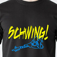 Schwing Wayne's World Snl Nbc Garth Dvd 90s 80s Vintage Tv Retro Funny T-shirt
