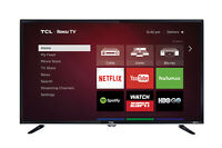 "TCL 40FS3800 40"" Full HD 1080p LED LCD HDTV  Roku Television TV"