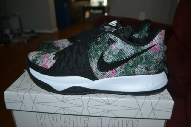 brand new 5c5fa 56515 Nike Kyrie 1 Low Floral Mens Ao8979-002 Black White Basketball Shoes Size 8