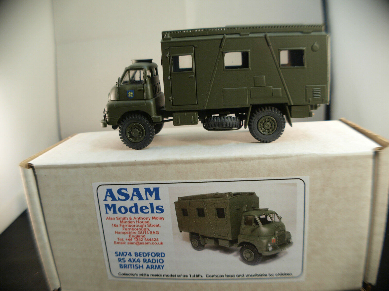 Asam models sm74 bedford rs 4x4 radio army of the british army new mint mib