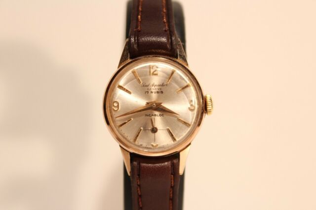 "VINTAGE NICE SMALL SWISS CLASSIC LADIES GOLD PLATED WATCH""PAUL ARPANTIER""GENEVA"