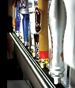 Lot Of 3 Led Lighted Wall Mount 15 Beer Tap Handle Display Includes