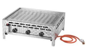 Rösle Gasgrill 3 Flammig : Activa gastrobräter gas grill 12kw 3 flammig bräter grillrost 12530