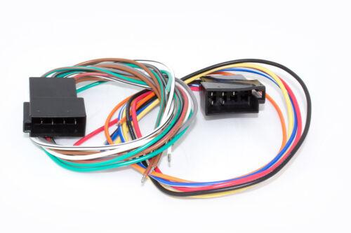 Autorradio ISO adaptador auto radio cable enchufe electricidad altavoces arnés VW