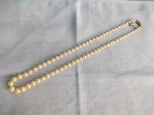 Antique faux perle - antieke geknoopte parels met oude sluiting