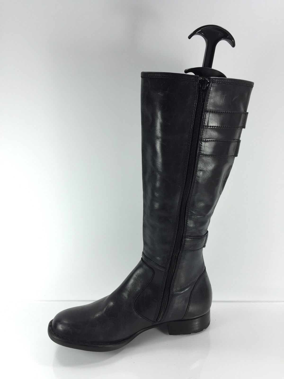 Børn Womens Black Leather Knee Boots 5.5