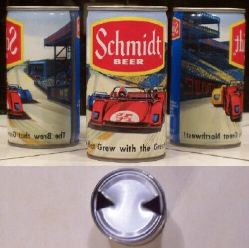 Schmidt Beer Race Car Scene Steel Can G Heilman 5 Cities LaCrosse Wisconsin 16X