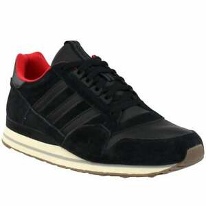 adidas-Zx-500-Lea-Lace-Up-Sneakers-Casual-Sneakers-Black-Mens-Size-10-5-D