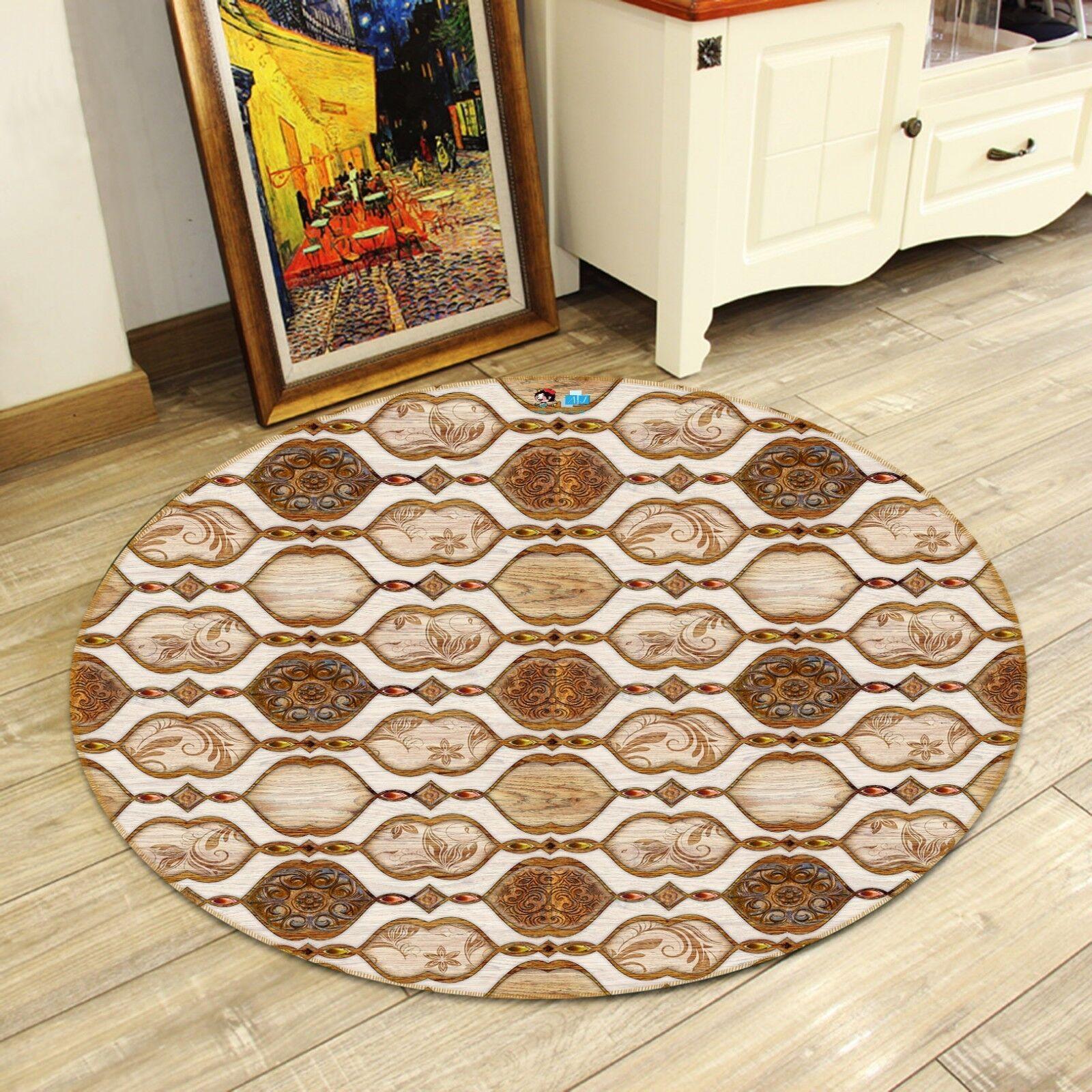 3D 3D 3D Wood Texture Art 9  Non Slip Rug Room Mat Round Quality elegant photo carpet 1a27b2
