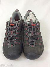 KEEN Youth Alamosa Hiking Trail Shoes Gargoyle Pompeian Red Size 1