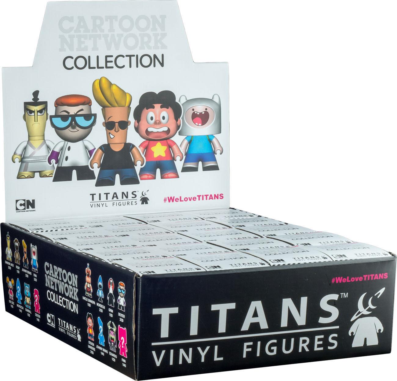 CARTOON NETWORK - 3  Series 1 Blind Box Titans Titans Titans Vinyl Figurines Display (20ct) 233c34