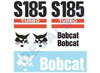 Bobcat S185 Skid Steer Set Vinyl Decal Sticker Aftermarket
