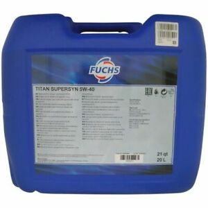 Fuchs Titan Supersyn 5W-40 – 20 Liter