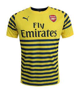 e05b7978f3 Puma Arsenal AFC Prematch 2014 15 Mens Jersey Training Top Yellow ...