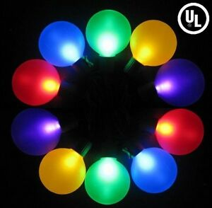 Outdoor Party Christmas Multicolor LED String Lights w/ Frosted Globe GW21904 eBay