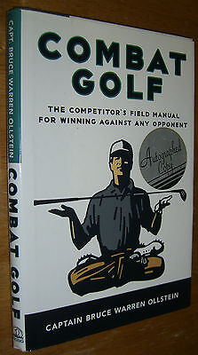 Autographed First Edition Combat Golf by Bruce Warren Ollstein Copy 1996