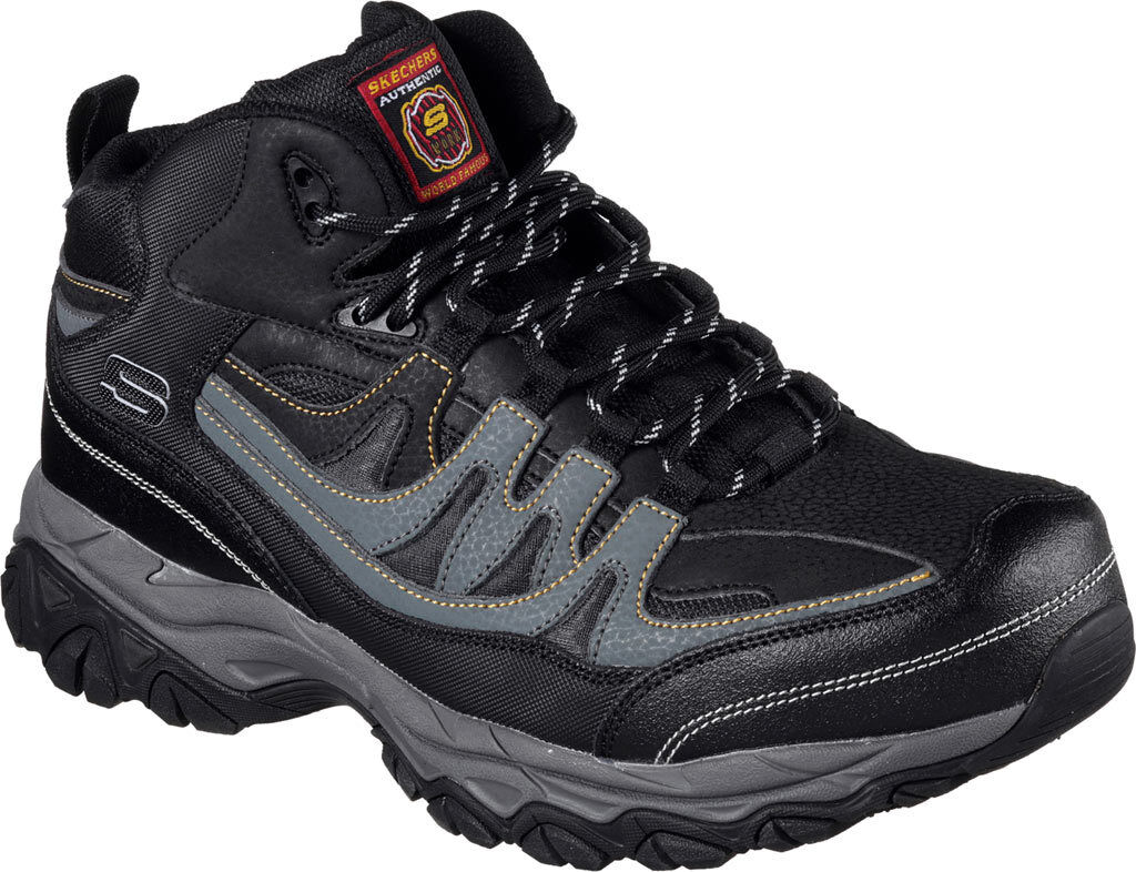 reputable site cc054 6278b Skechers Mens Work Relaxed Fit Holdredge Rebem Steel Toe Hiker Electrical  Hazard
