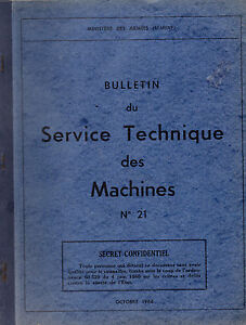 Bulletin Du Service Technique Des Machines - N°21- Ministère Des Armées (marine) éConomisez 50-70%
