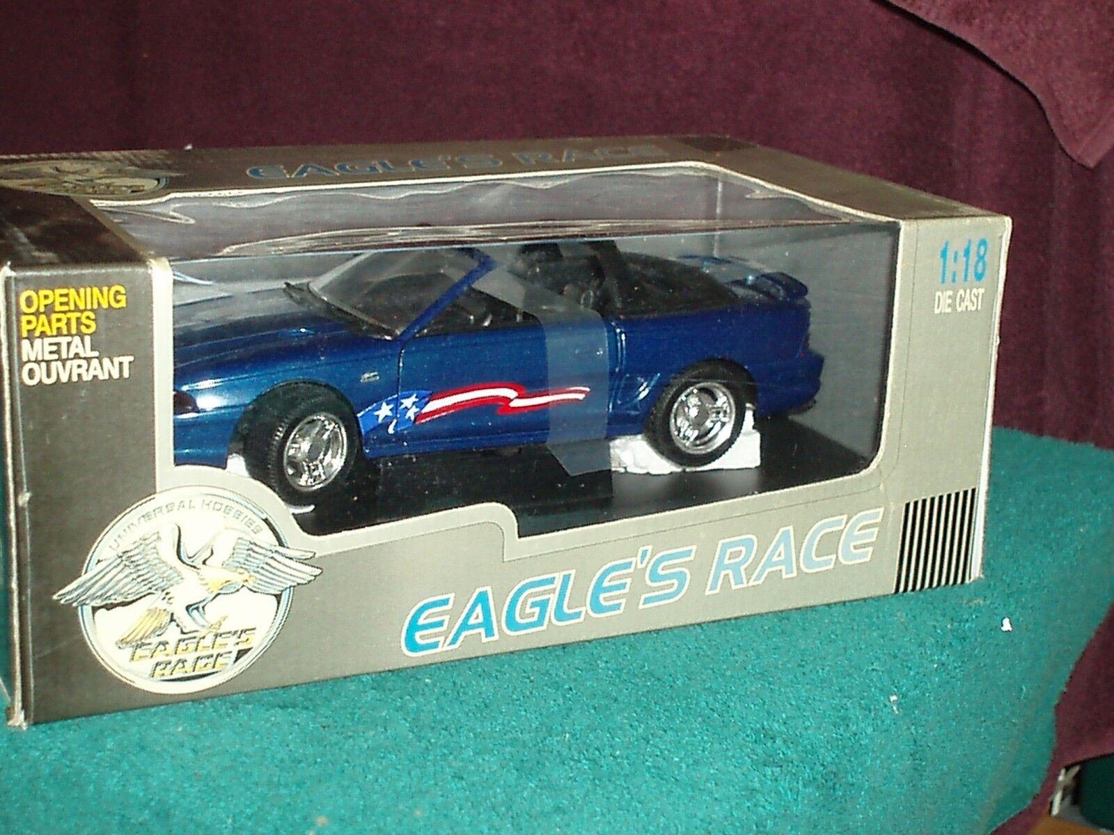 Eagle's Race 1994 Ford Mustang GT Conv 1 18 Azul  sueño  coche nuevo en caja