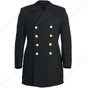 German forrada militar de Chaqueta Original invierno Original Excedente sobre Coat tartán Pea Navy Sva5TnwqU