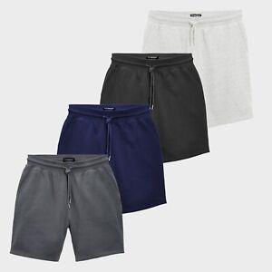 New-Mens-Summer-Shorts-Casual-Fleece-Short-Plain-Sweat-Slant-Pocket-Jogger-S-2XL
