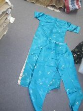 Women's Long wedding dress & Pants Lake Blue Chinese Traditional Qipoa Size XS