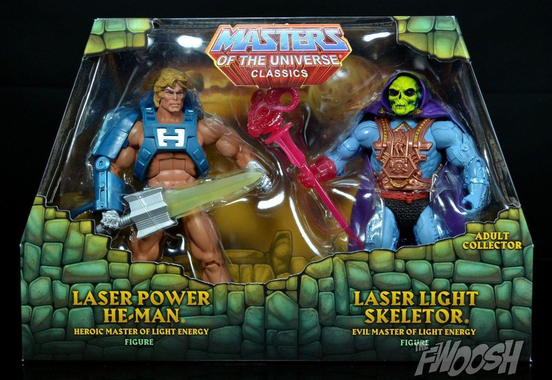 Amos del universo Classics láser Potencia Luz Láser De He-man & Skeletor Matty envíos a todo el mundo