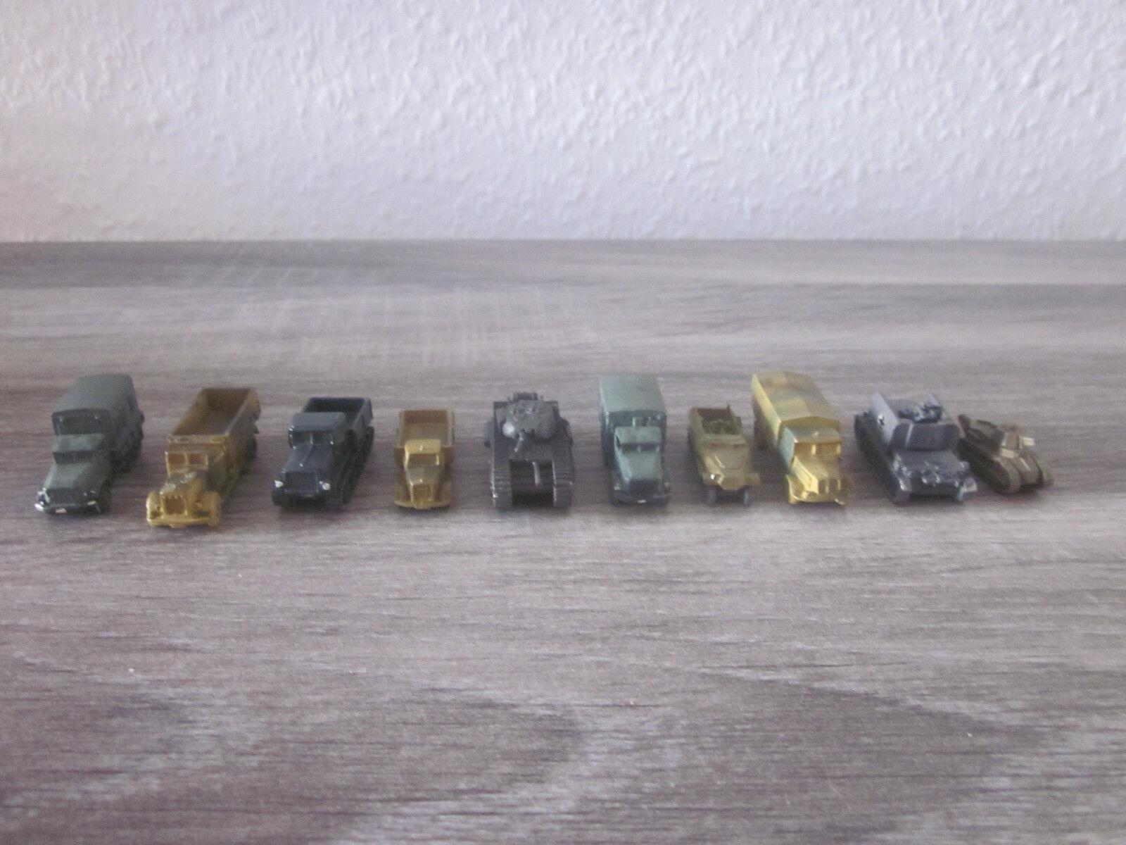 10 X Diversos Militar Vehículos 2. II Guerra Mundial Escala  N