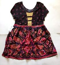 MinkPink Urban Outfitters Paisley Boho Babydoll Peasant Flowy Dress Womens Small