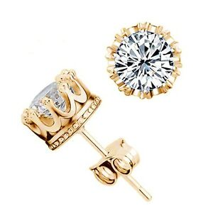 18K-GOLD-PLATED-CLEAR-CROWN-STUD-EARRINGS-4MM-MADE-WITH-SWAROVSKI-CRYSTALS