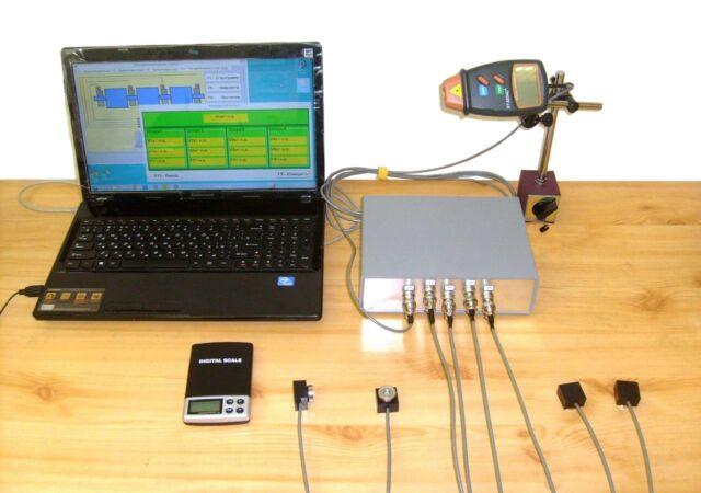 "Field portable dynamic balancing machine ""Balanset-4"" Vibrometer Analyzer"
