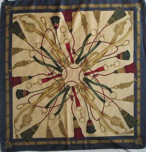Superbe-Foulard-ALTEA-100-soie-TBEG-vintage-scarf-87-x-90-cm