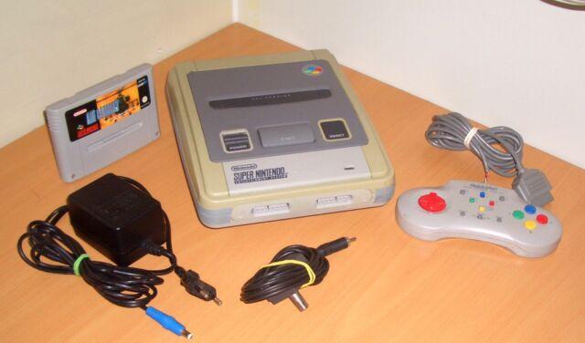 Super Nintendo Entertainment System Konsole Spielekonsole + Spiel + Drücker (N3)