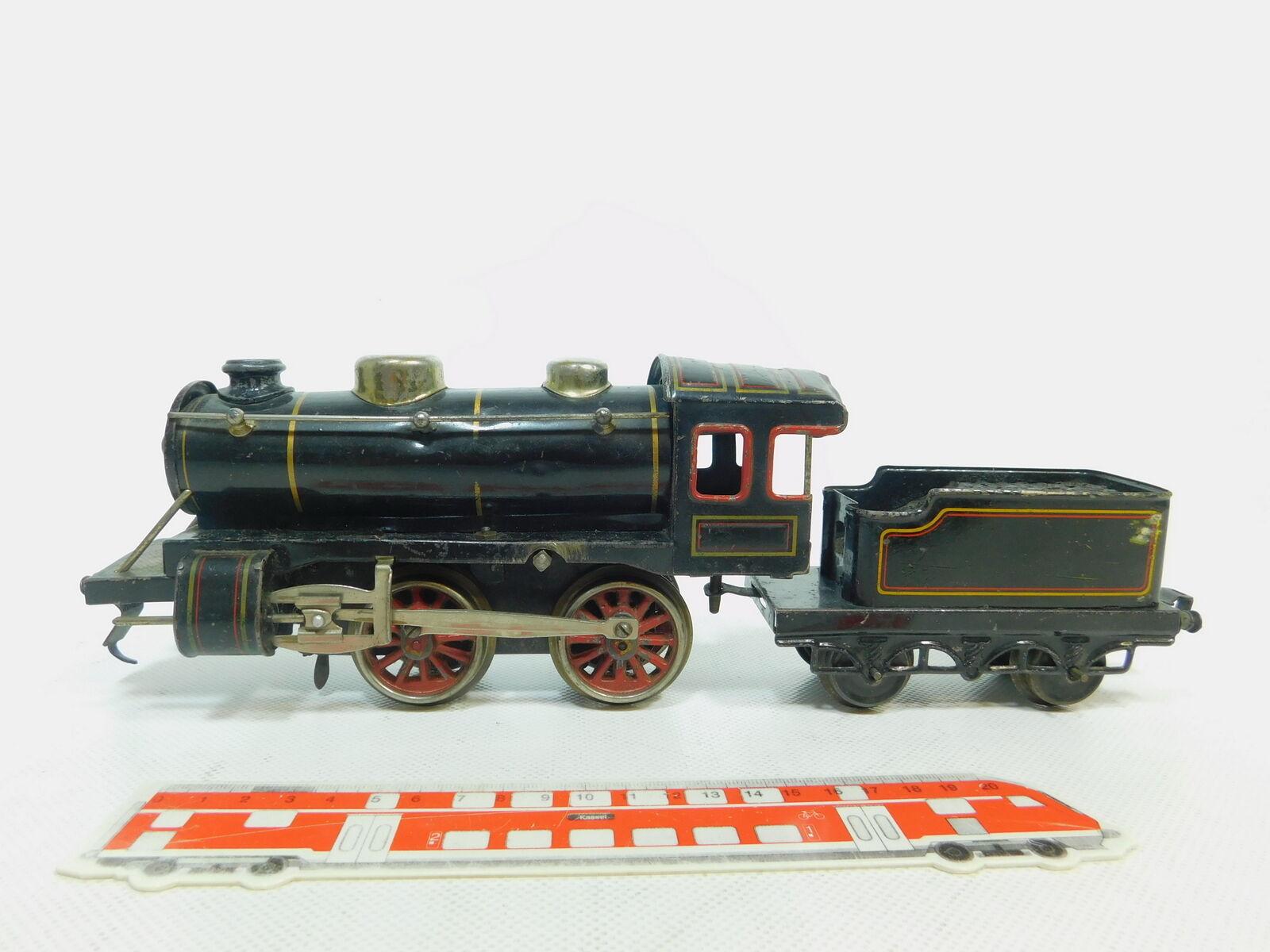 BE728-2  Kraus Fandor/JKG  Spur 0/AC Blech-Dampflok mit Tender; Bastler/defekt