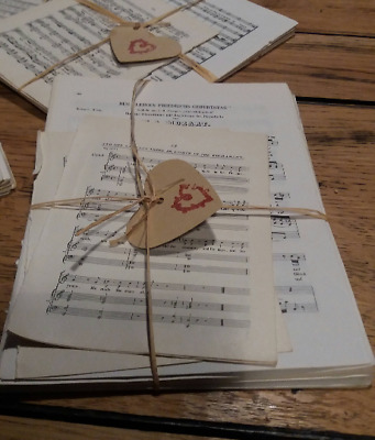 Mixed Sizes Origami scrap booking decoupage 30 sheets VINTAGE music paper