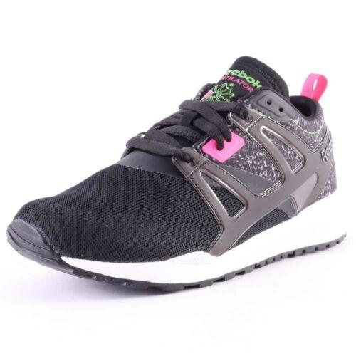 Reebok Mens Ventilator Adapt Graphic Fashion Sneakers Black White New ALL SIZES