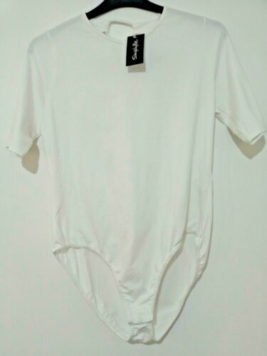 New Simply Be ladies white body lace up back sizes 14 to 26 ref j27u SALE!!
