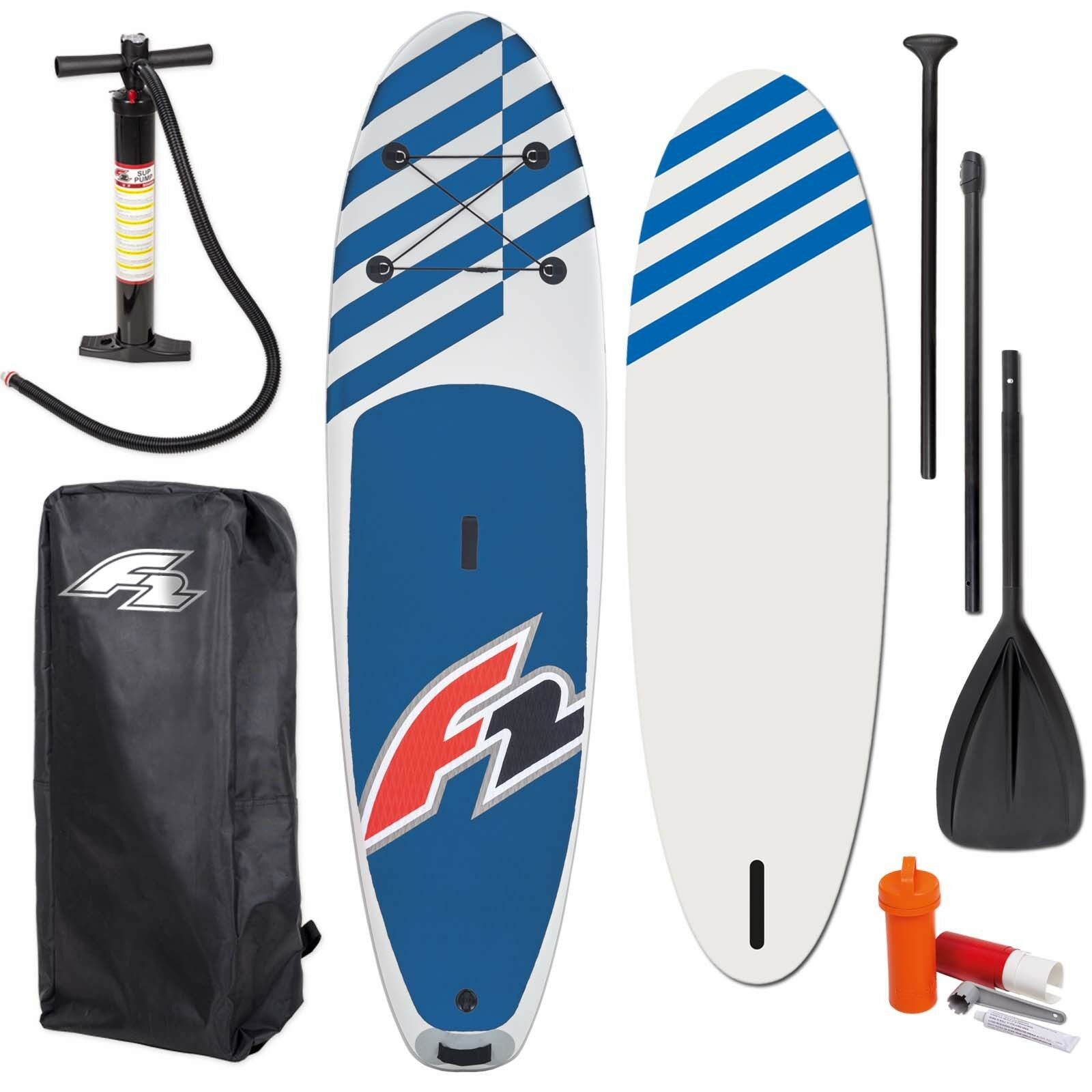 F2 Stand up Paddle Board Sup 10,5   bluee Complete Set Inflatable Inflatable