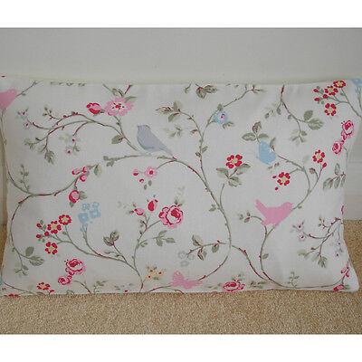 "NEW 20"" x 12"" Oblong Cushion Cover Shabby Chic Birds Butterflies Flowers Bolster"