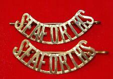 SEAFORTHS Canada brass Shoulder Title Badges